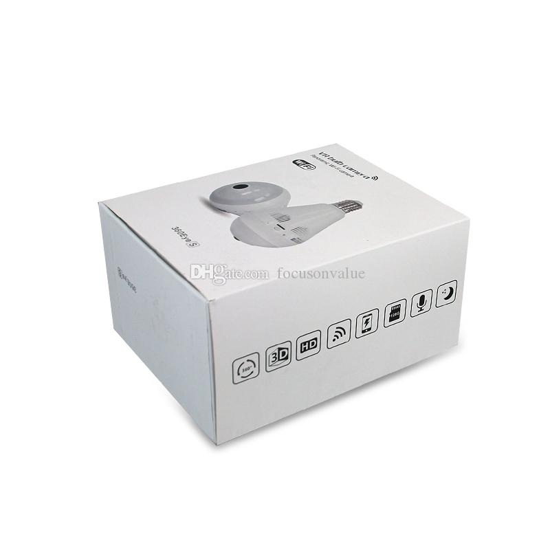 360 Degree WIFI Bulb Camera Wireless Panoramic IP Camera Wi-Fi Bulb Lamp Fisheye camera home Surveillance Security Cam Motion Detection