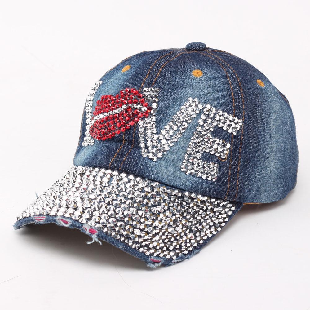 Men Hats Denim Diamond LOVE Design Baseball Cap Hip-Hop Hat Women Cotton  Hats Adjustable Hat Fashion Caps Men Hats Denim Hat LOVE Baseball Cap  Online with ... 55d0d3ece205