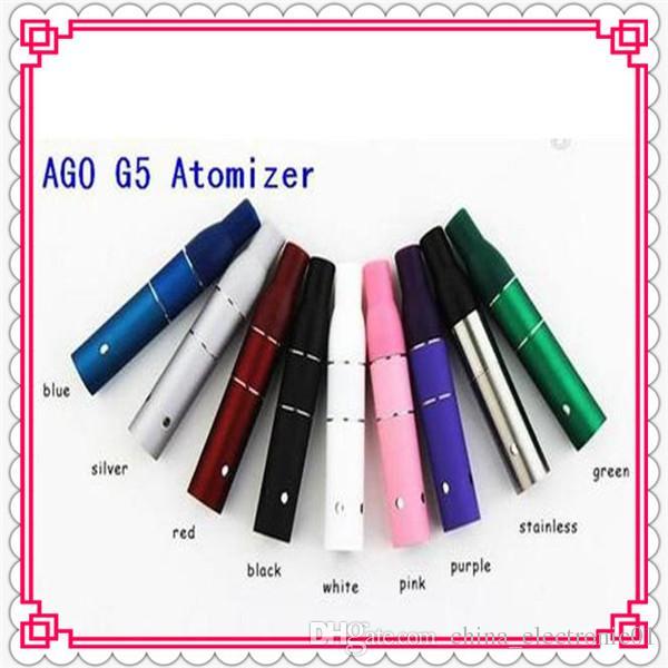 Top Selling mini AGO G5 Atomizer Dry Herb Vaporizer Herbal Vapor 510 Thread evod ego t battery E Cigarette
