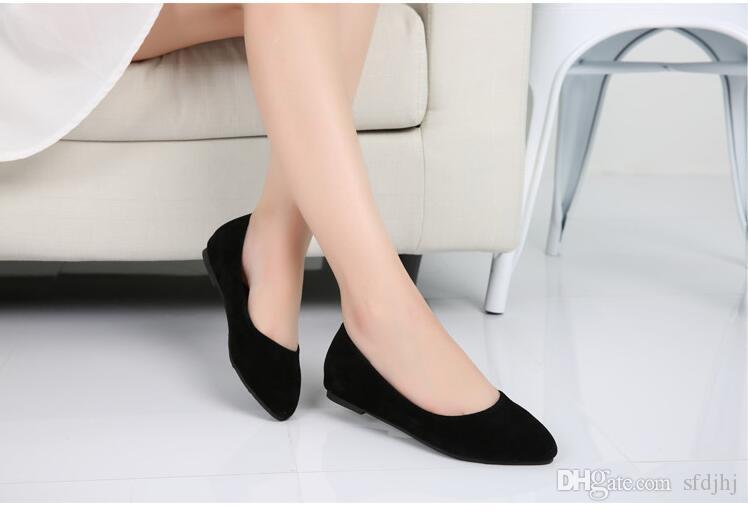 Zapatos de mujer de verano de primavera Zapatos de ballet Zapatos planos de mujer Bailarinas de mujer Negro Talla grande 32 - 44 Calzado informal Sapato Womens Loafe