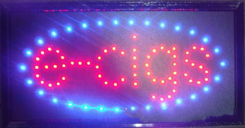 2017 New arriving super brightly LED E-CIGS sign light led shop neon signs 10x19 Inch wholesale