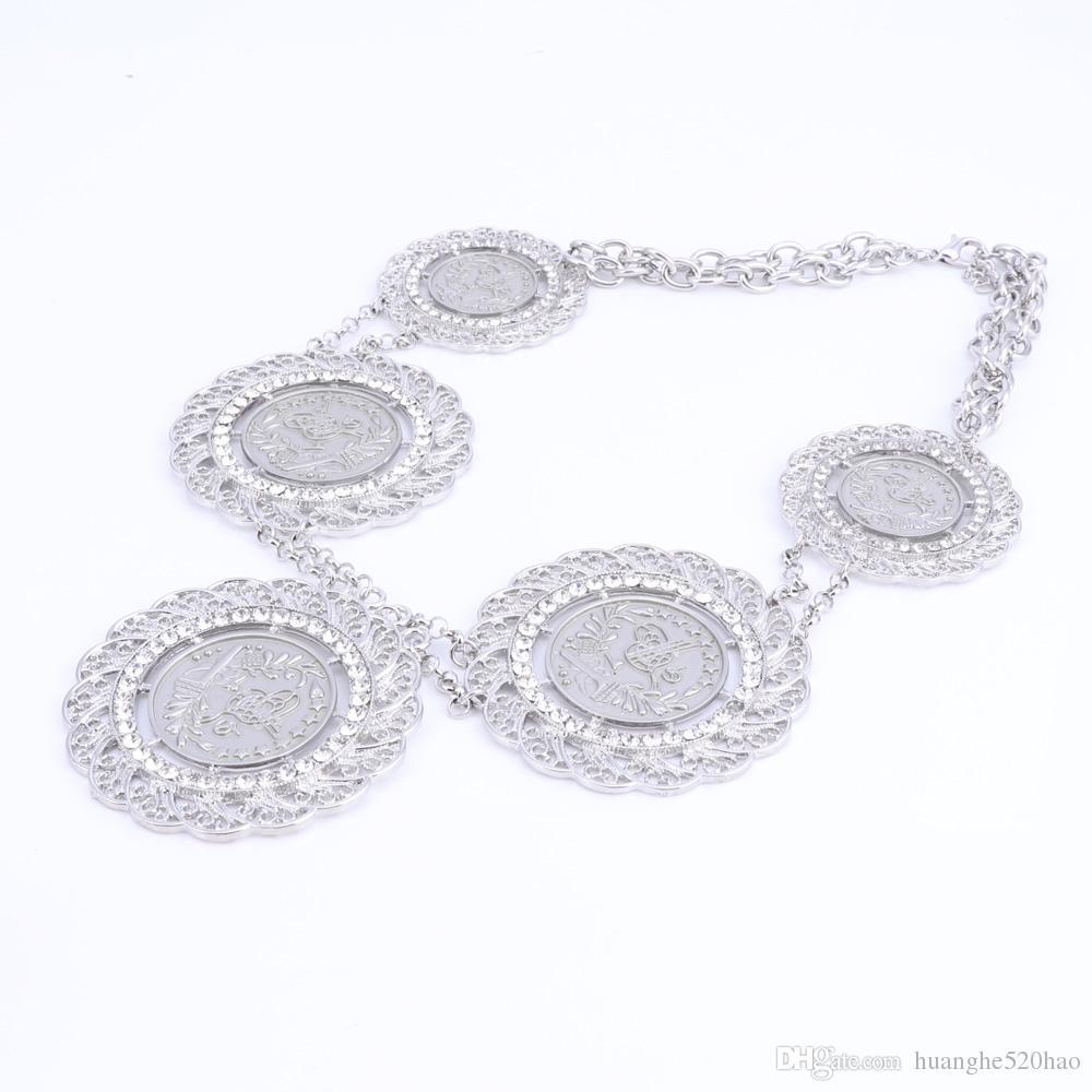 Fashion Jewelry Sets African Nigeria Beads Dubai Jewellery Set Women Wedding Bridal Turkish Choker Costume Jewelry Set