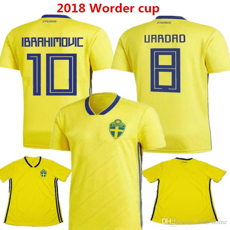 5afcfc841 2019 2018 Sweden Soccer Jersey Zlantan Ibrahimovic Maillot De Foot 2017  Kallstrom Sebastian Larsson Russia Word Cup Camisas Football Shirts From  Fans Home