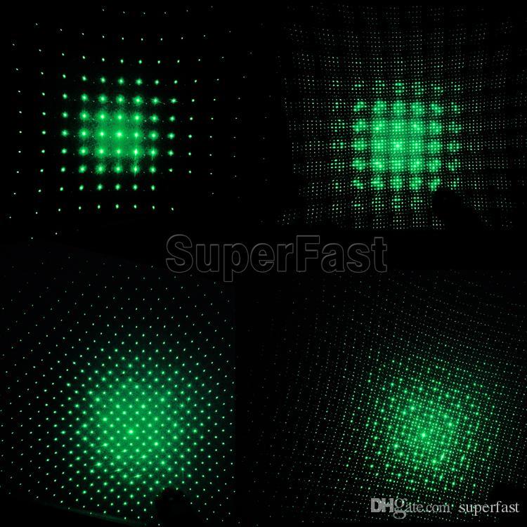 Laser-303 grüner Laser-Zeiger-Feder-justierbarer Fokus der hohen Leistung bringt Laserlicht im Kleinkasten zusammen DHL geben Verschiffen frei