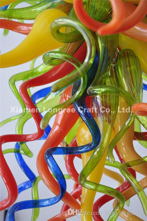 C02-Multi Color Crystal Chandelier Lights Hot Sale Colorful Art Design Blown Glass Ceiling Chandelier for Decoration