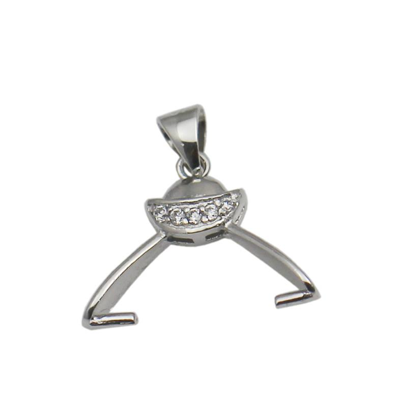 Beadsnice Pendant Clasp Side Hole Pinch Bails 925 Sterling Silver Jewelry Findings Necklace Pendant Making ID 34649