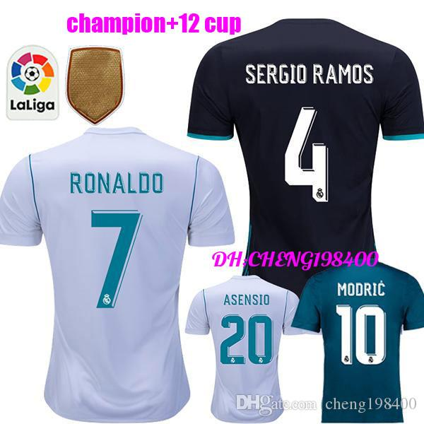 2018 Real Madrid Home Third Soccer Jersey KIT 17 18 Away Soccer Shirt  Ronaldo Bale Football Uniforms Asensio SERGIO MODRIC RAMOS Sales UK 2019  From ... cf82dc03f