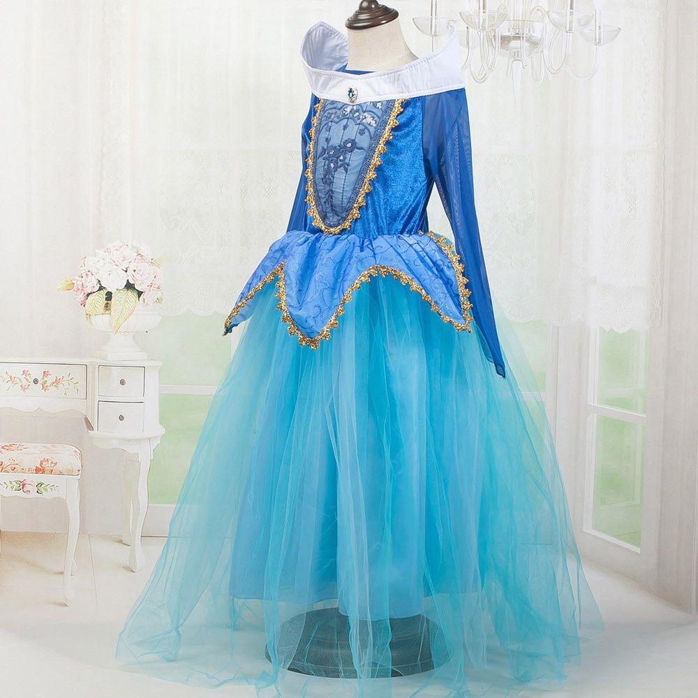 Fashion Party Birthday Kids Girl Princess Fancy Dress Natale Xmas Costume di Halloween