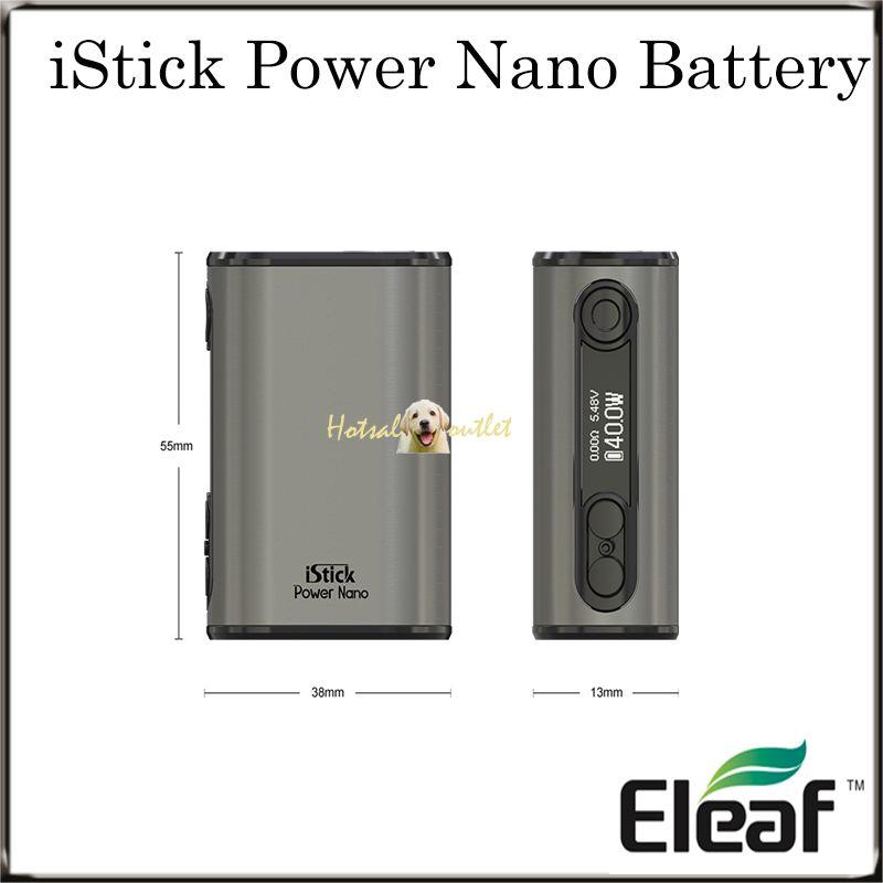 Authentische Eleaf iStick Power Nano-Batterie mit 1100 mAh Batteriekapazität TC 40W Maximaler Ausgang 100% Original