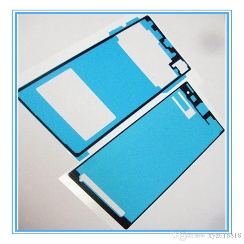 =LCD Front Panel Frame + Back Battery Door Cover Adhesive Sticker Glue For Sony Xperia Z Z1 Z1 Mini Z2 Z3 Z3 Mini Z4 Z5 Z5 min