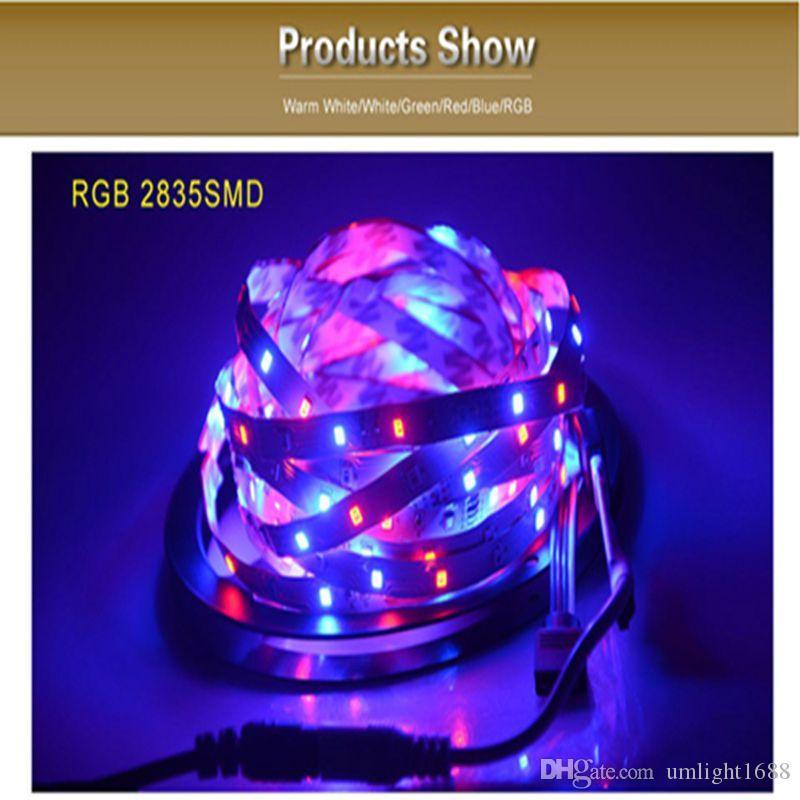 Birght 5 M 5050 5630 2835 Led Tiras de Luz Quente Branco Puro Vermelho Verde RGB Flexível 5 M Rolo 300 Leds 12 V fita ao ar livre indoor