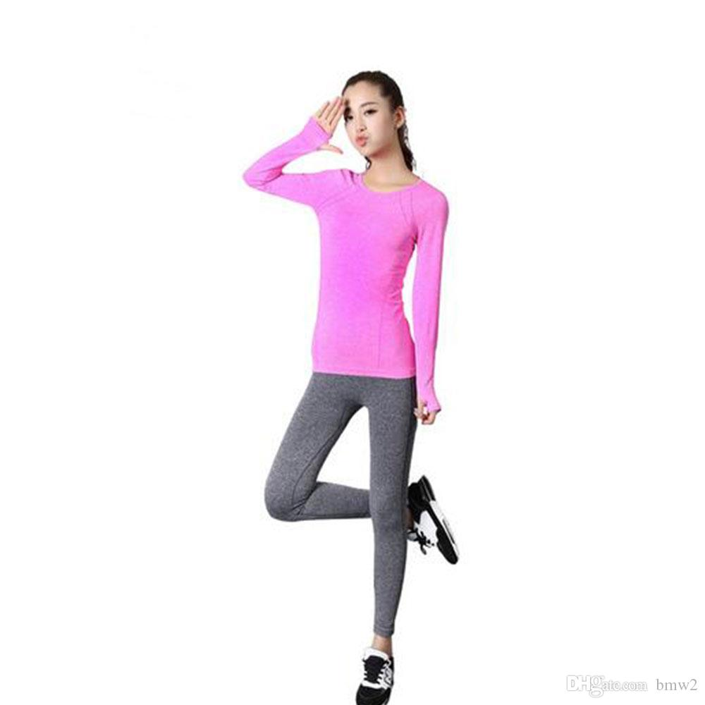 Yoga Shirt Women Gym Sports Fitness Women Running Clothes For Women Solid  Long Sleeve Spring Autumn Base Shirt Fitness Online with  23.1 Piece on  Bmw2 s ... 7c304afa50a19