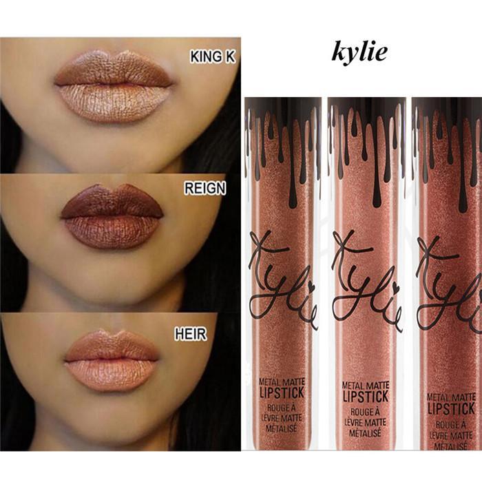 diffrent kylie jenner matte liquid lipstick metals bundle k reign heir metals serial lip gloss