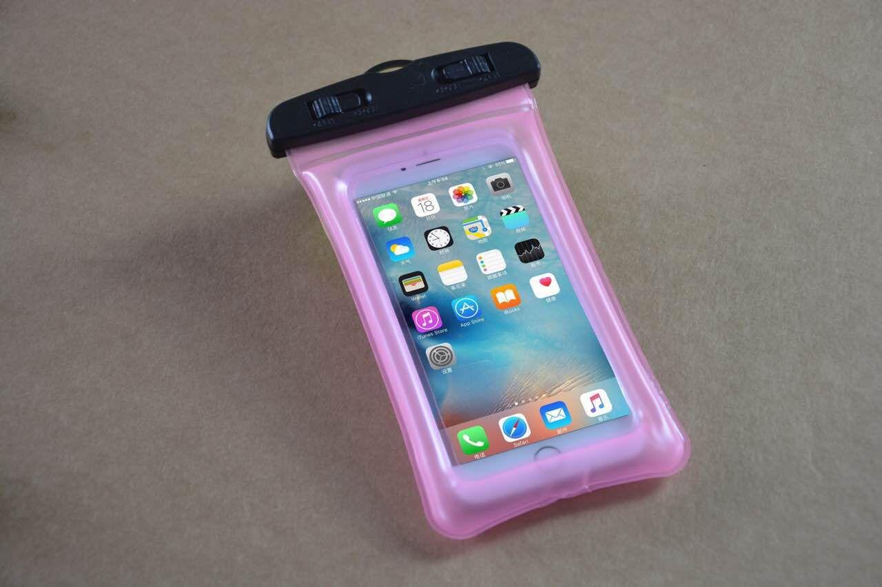 Float Airbag Design IPX8 Custodia impermeabile a secco Custodia trasparente universale impermeabile Custodia iPhone X 8 8plus
