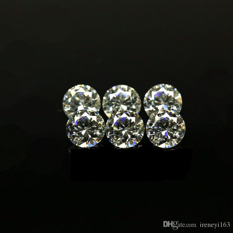 Cheap Price Small Size 0.7mm-1.6mm 3A Quality Simulated Diamond White Round Shape Cubic Zirconia Loose CZ Stones For Jewelry Making
