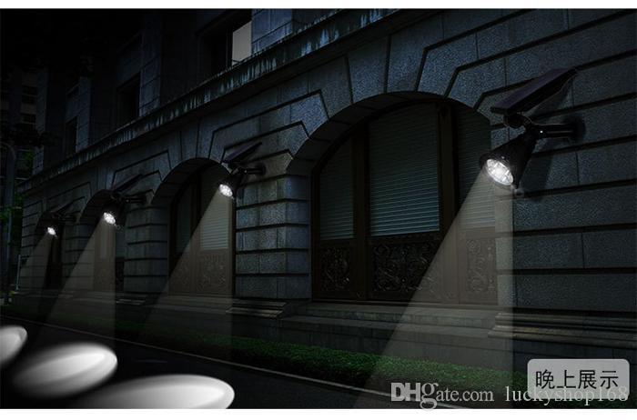 Yeni Arvial Güneş Enerjisi 4 Parlak LED Beyaz / Sıcak Beyaz RGB 3 Renk Otomatik Anahtarı Açık Bahçe Yolu Park Çim Lambası Peyzaj Spot Işıkları