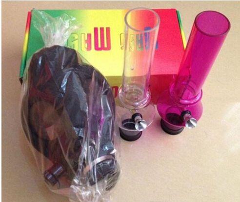 Wholesale 2016 Bongs Gas Mask Water Pipes Sealed Acrylic Hookah Pipe Filter Smoking Pipe mask bongs