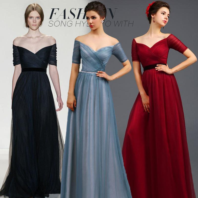 New Arrival Long Evening Dress Party Dress Wedding Dress Elegant Off ...