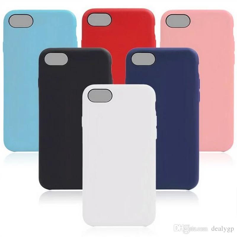 Cas de couverture arrière de téléphone intelligent ultra mince en caoutchouc coloré TPU pour iPhone 7 DHL gratuit