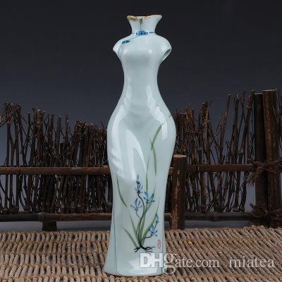 Großhandel Blumenvase Hand Malen Blau Und Weiß Porzellan Klassische ...