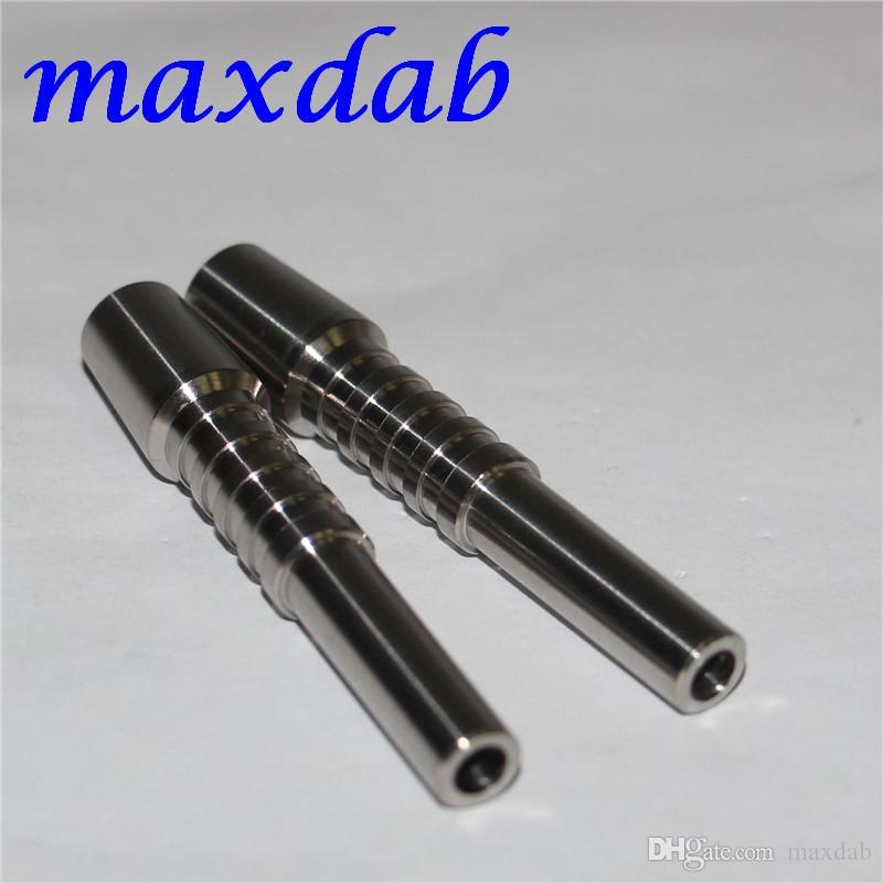 Las juntas de uñas néctar colector de titanio de 10 mm de titanio GR2 Nails para el concentrado de miel Dab paja de vidrio del tubo de agua Bong plataformas petrolíferas
