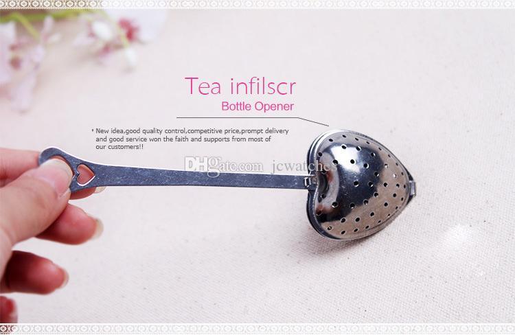 Herz-Form-Teesieb-Werkzeug-Edelstahl-Tee-Ei mit Geschenkbox-Tee-Zeit-Löffel-Filter-Hochzeits-Andenken avor Geschenk