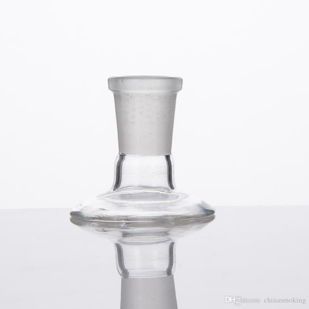 그릇 조각 돔에 대 한 유리 어댑터 스탠드 물 파이프 봉 어댑터 14mm 18mm 남성 여성 서리로 덥은 조인트 드롭 다운