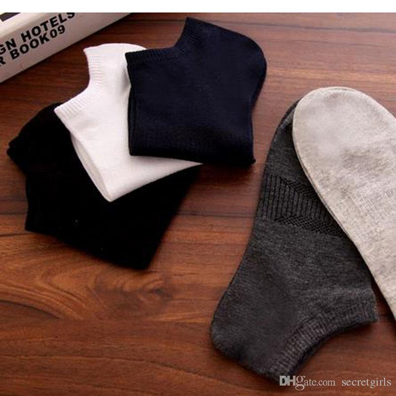 Men Socks Cotton Loafer Boat Non-Slip Invisible Low Cut No Show Socks  One Size, Fit Men Feet 6-10