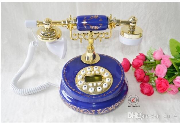 Decoration Arts crafts home Astick broken glass craft Antique Home landline telephone Telephone Model
