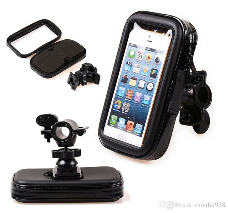 check out d2c96 9e024 Waterproof Motorcycle Phone holder Bike Bicycle Holder Mobile Phone Mount  Holder Bag for Samsung S 4 5 iPhone 7 6 5 accessories