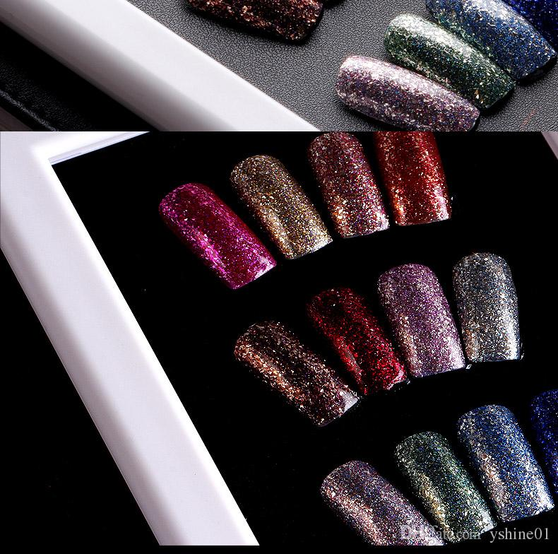 2016 New Updated Shining Glitter Color Gel Platinum Gel Nail Polish ...