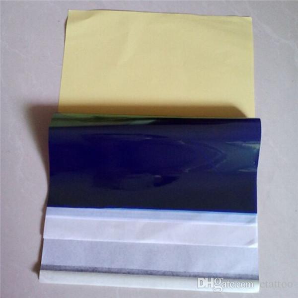 100 قطع الوشم نقل الوشم ورقة الاستنسل الحرارية ورقة a4 حجم papertermic الحرارية الوشم إمدادات شحن مجاني
