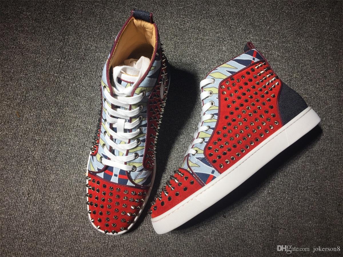 44a1d5b53e7 Original Box Men Shoes Red Bottom Sneaker Luxury Party Wedding Shoes ...