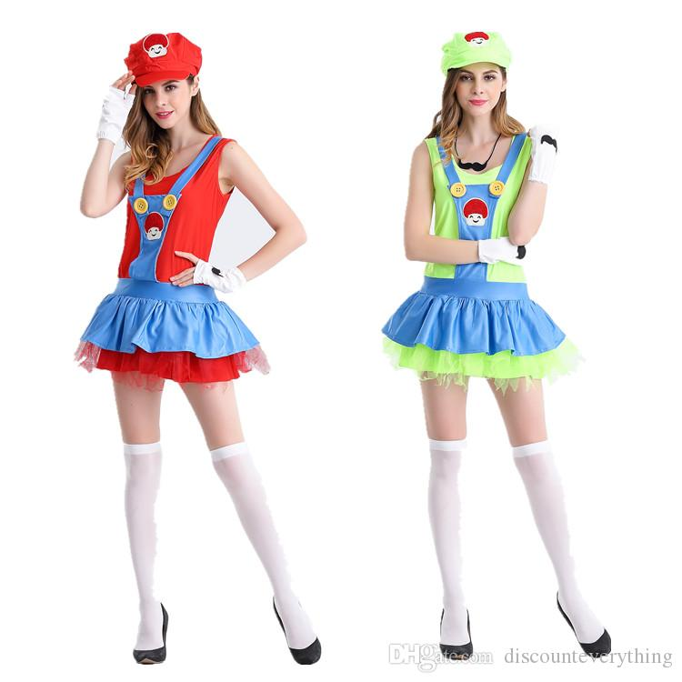 Super Mario Costume Mario Role Playing Anime Cosplay Suit On Halloween Sisters Flower Clown Suit Adult Themed Costumes Adult Themed Halloween Costumes From ...  sc 1 st  DHgate.com & Super Mario Costume Mario Role Playing Anime Cosplay Suit On ...