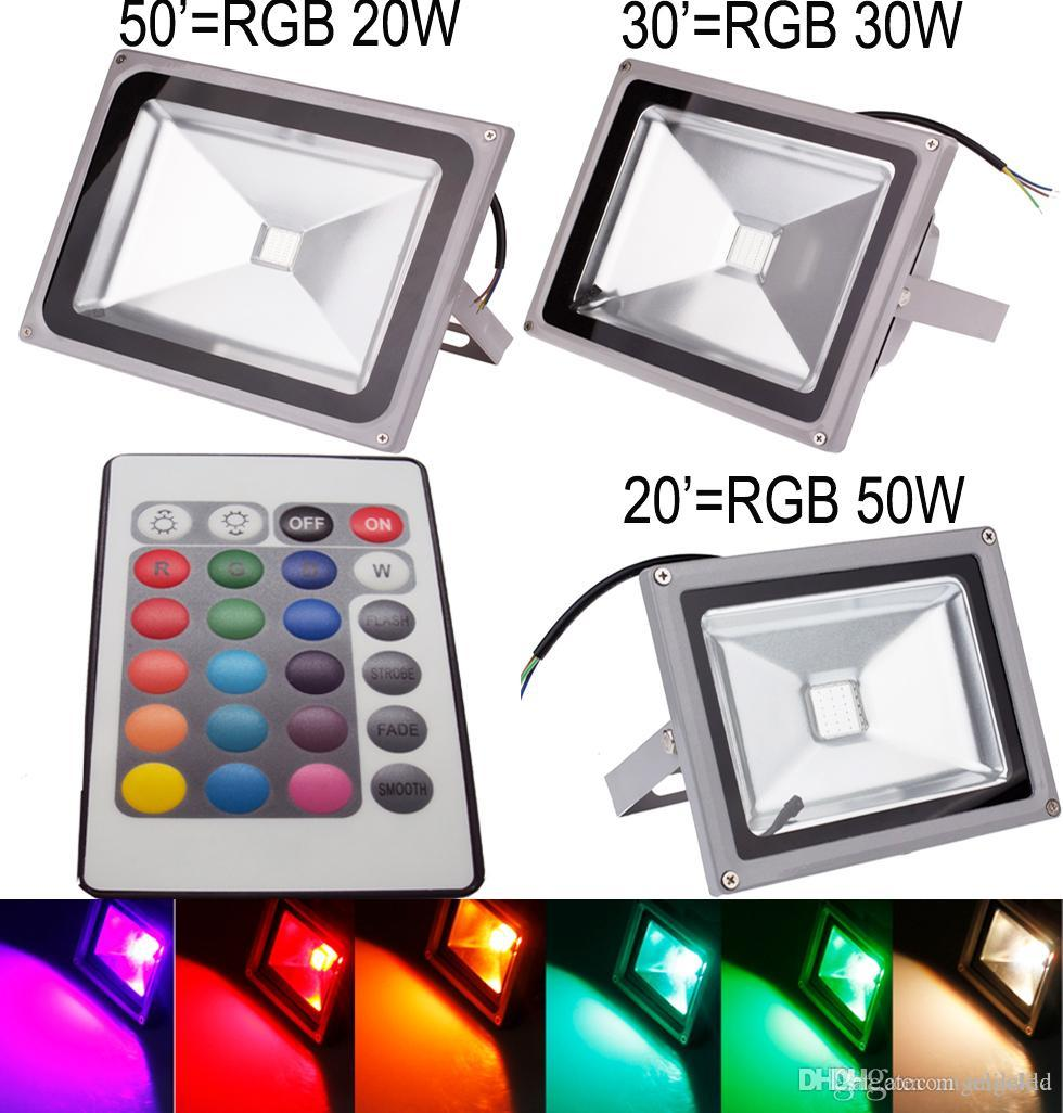 Remote Control Security Lights Outdoors Remote control rgb led flood wall washer lights color changing remote control rgb led flood wall washer lights color changing security light tones 4 modes waterproof led garden floodlight led flood light review workwithnaturefo