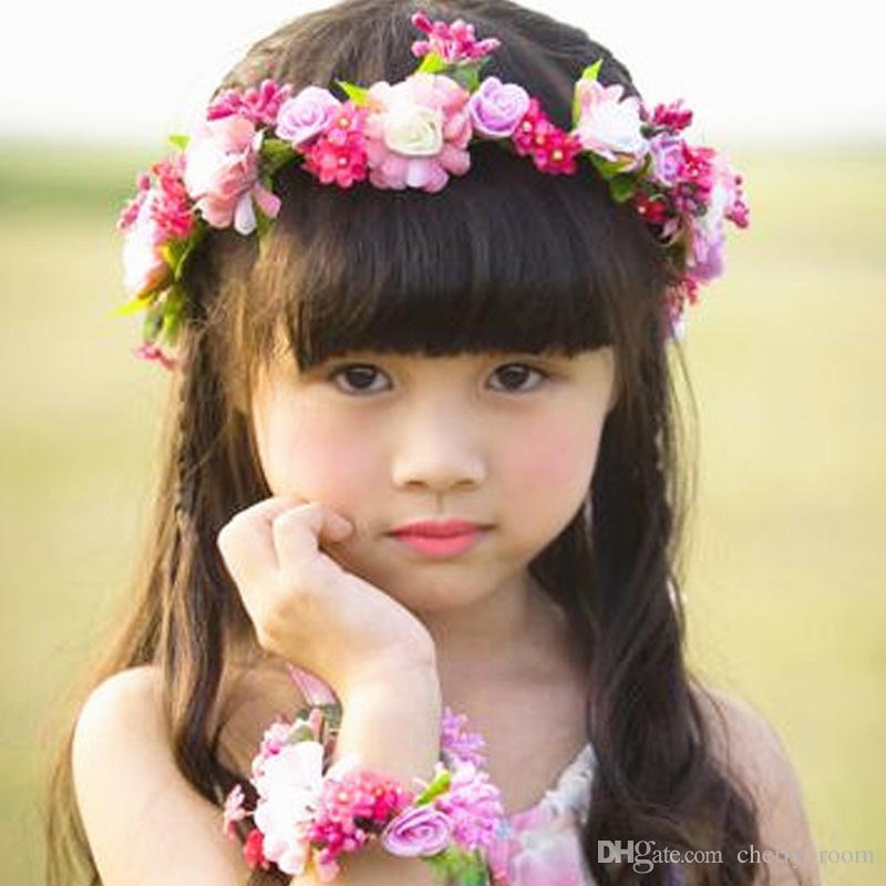 Romantic Bohemian Wedding Flower Headband Bridal Headpiece Bridal ... 92a42706be9