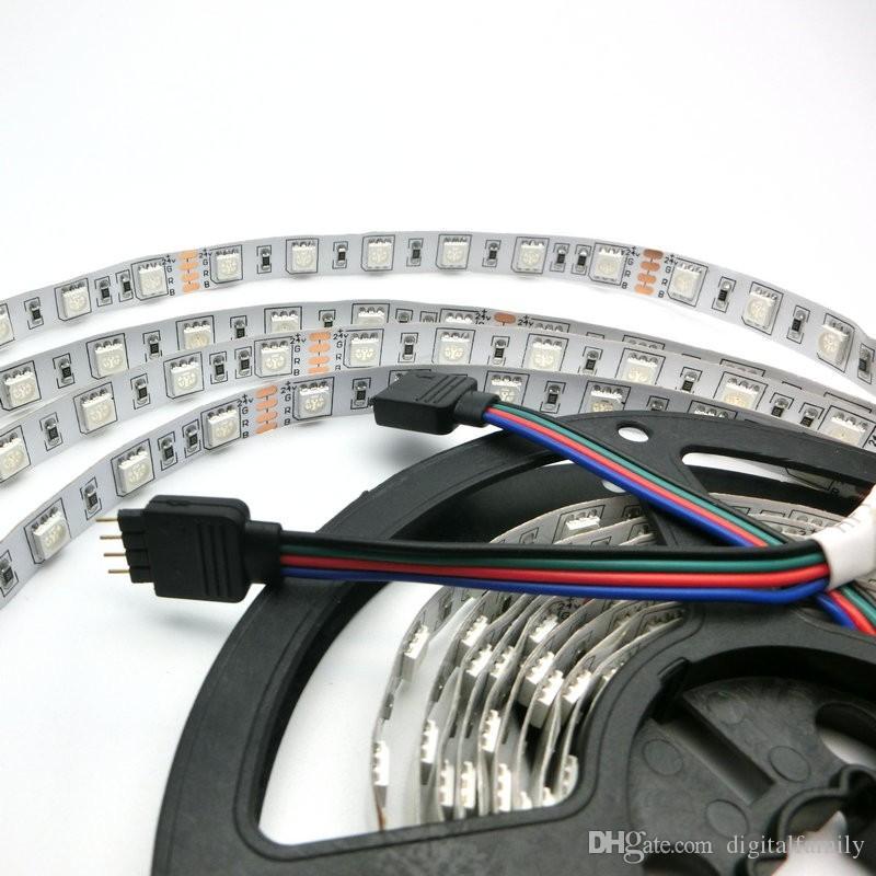 5m 24 V Striscia di LED 5050 300LLED IP20 Non impermeabile Illuminazione flessibile LED nastro nastro nastro decorazione esterna nastro LED Nastro caldo bianco bianco RGB rosso