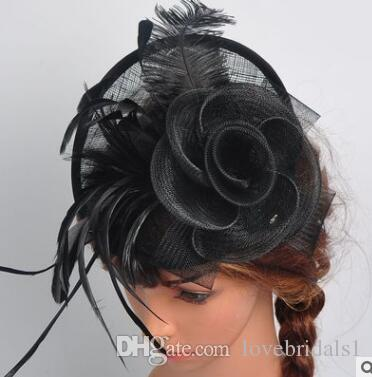 Vendita calda European Ladies Hat Ma Yarn Struzzo Capelli Capelli Cappello da banchetto Occidentale Cappello da banchetto Wedding Weddress Spedizione gratuita