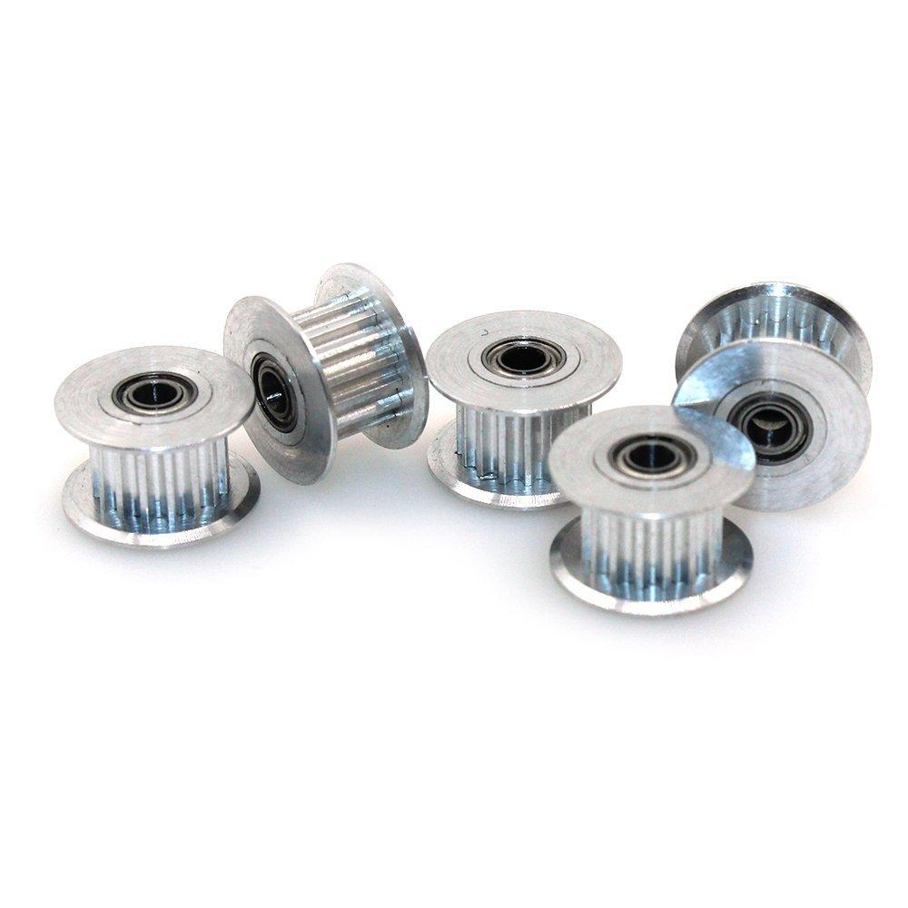 3mm Bore for 6mm wide belt Toothed and Smooth 3D Printer GT2 Idler Pulley
