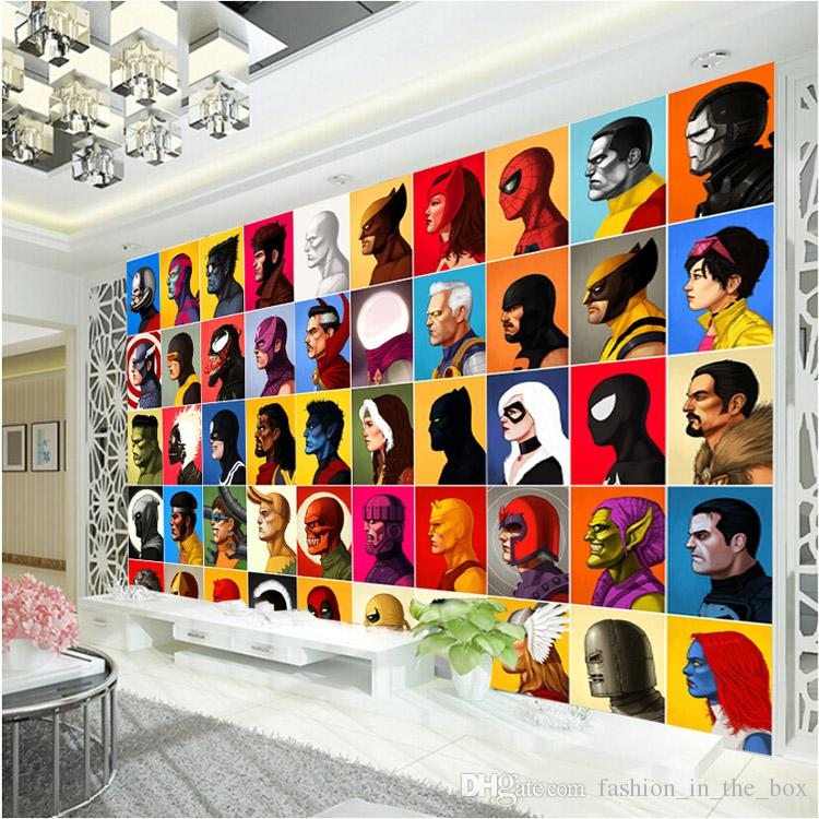 Superhero Wall Murals superhero comics wallpaper spiderman wall mural captain america