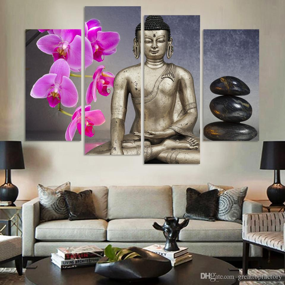 2017 Buddha Archid Stone Painting Canvas Art Abstract