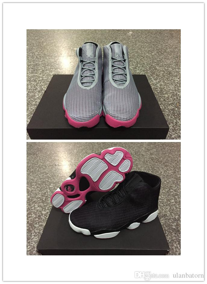 36336cfb9 New Design Women HORIZON GG Girl Outdoor Cheap 13 13s Mens Basketball Shoe  Lady Sport Shoes Pink Grey And Black Wholesale Jordans Sneakers Sneakers  Sale ...