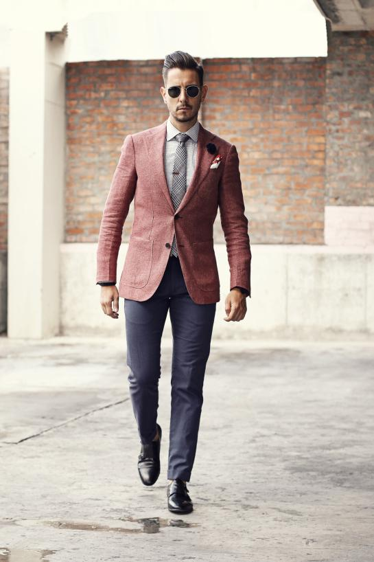 사용자는 신랑 턱시도 두 조각 슬림핏 정장 남성 정장 높은 품질 남성 웨딩 정장을 만든