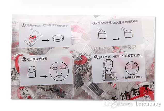 /pack Compressed Facial Face Cotton Mask Sheet DIY Natural Skin Care Compress Masque Mask For Women