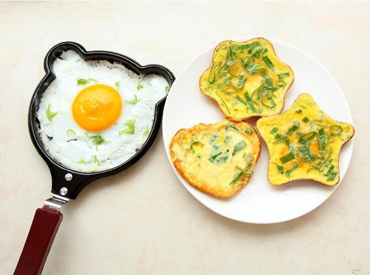 Sevimli Kitty Karikatür Mini Yapışmaz Kahvaltı Omlet Tava Gözleme Yumurta Fritöz Skillet Fry Tava Kalıpları no kapaklar Tencere