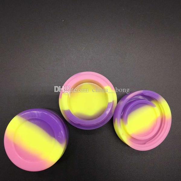 Contenants de cire antiadhésifs boîte de silicone 5ml Récipient en silicium Contenant antiadhésif de cire de qualité alimentaire contenant un outil de retenue d'huile pour une vaporisateur