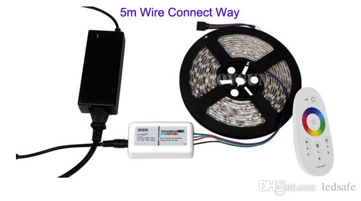 5050 rgb led مرن شريط ضوء مصباح 60 المصابيح / م 30 متر 20 متر 15 متر 10 متر 5 متر dc 12 فولت للماء ip65 ip20 شرائط 2.4 جرام البعيد تحكم + محول الطاقة