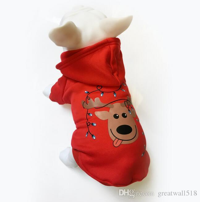 Christmas Dog Clothes Cotton Winter Merry Christmas Pet Dog Clothing Cat Teddy Puppy Chihuahua Poodle Hoodie Coat Jacket Costume MT-027