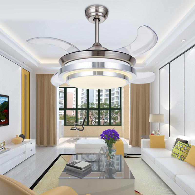 36 Inch Modern Led Invisible Ceiling Fans