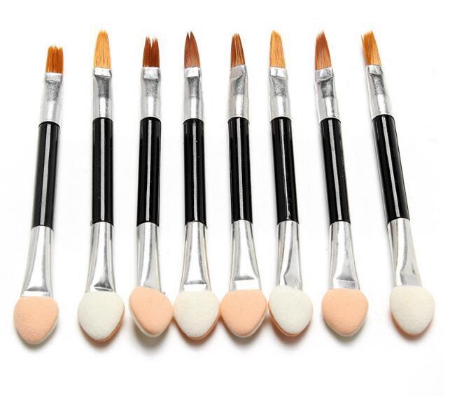 Nouveau Applicateur Double Terminé Cosmétic Brosses Femmes Maquillage Maquillage Eye-liner Sponge Sponge Brush Brush Set Jetable